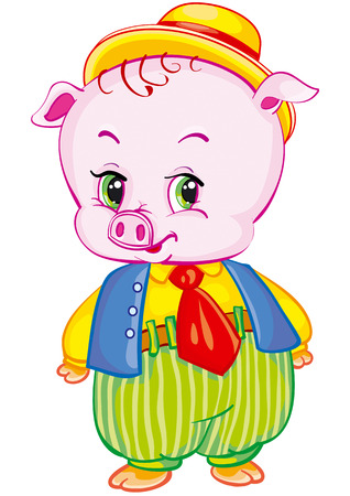 cute pig in a dress Stock Vector - 7305848
