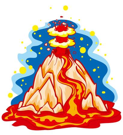 eruption as a natural disaster Stock Vector - 7305855