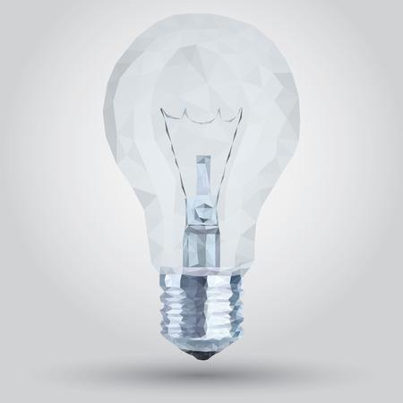 technological evolution: Transparent Polygon of lamp bulb Illustration