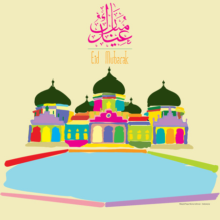 Greeting Cards  Postcards Design eid al fitr Illustration
