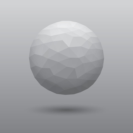 balck and white: Polygonaly ball Illustration in 3d