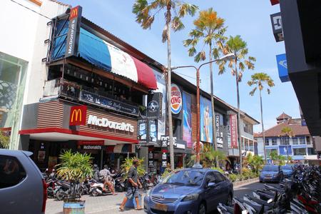 kuta: The main shopping street of Kuta, Bali, Indonesia Editorial