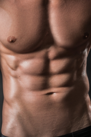 six pack abs: abdominal muscles and chest Stock Photo