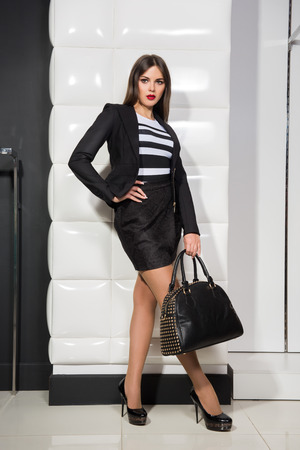 apparel: stylish girl with a bag