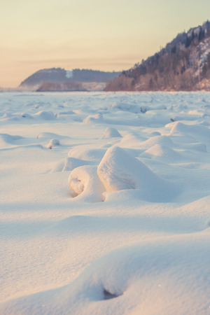 snowdrifts: landscape. weather, snowdrifts in the foreground