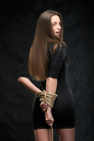 fetishes: bound hands Stock Photo