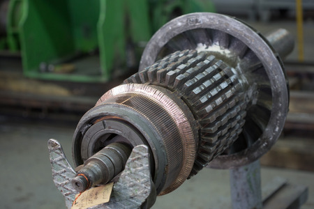 electromagnetism: The electric motor rotor of stock.