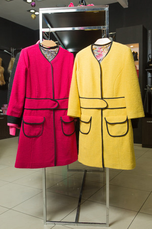 clothes rack: clothes rack with ladies coats for sale