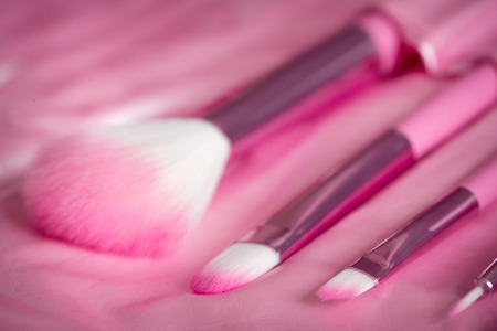 defining: pink professional cosmetic brush