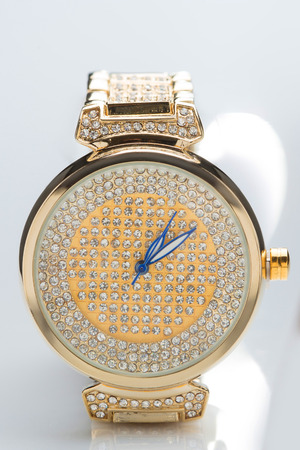 chronograph: gold watch with diamonds