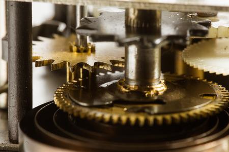 mechanical parts: Antique clock gears