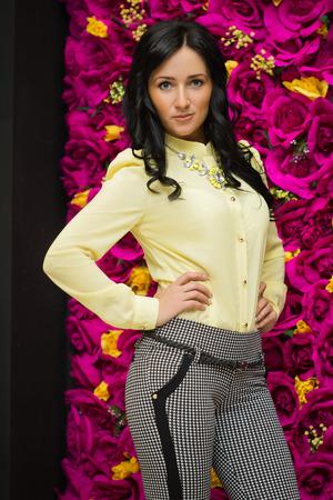 Beautiful sexy young business woman photo