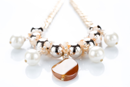 pearl necklace: pearl necklace Stock Photo