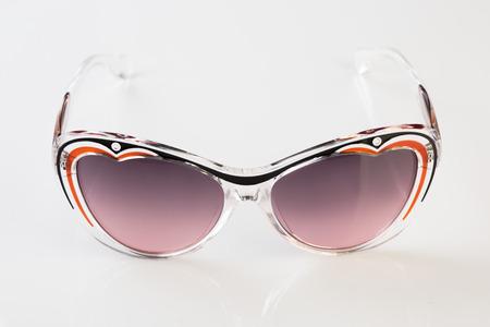 cat eyes: Sunglasses  white background Stock Photo