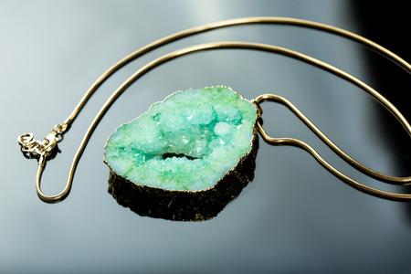 gem: green gem necklace