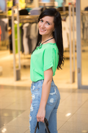 girl at the mall. Stock Photo