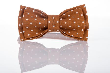Brown bow tie on a white background Zdjęcie Seryjne