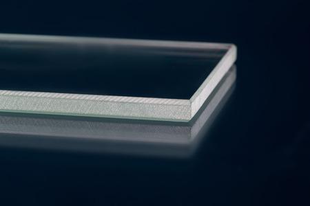 Glass roving fibre for pultrision process. Window fiberglass profile manufacturing. Plate glass, machined edge Zdjęcie Seryjne