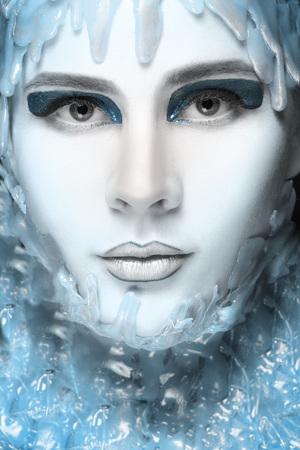 Creative make-up of the ice. Close-up of beautiful girl Zdjęcie Seryjne