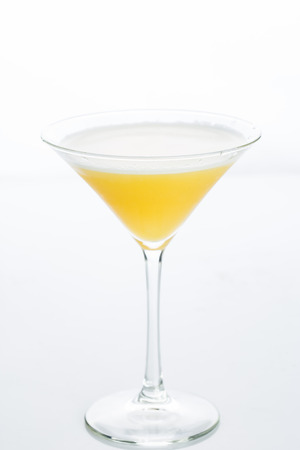 bartending: Orange cocktail cutout, isolated on a white background