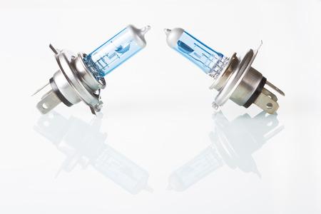 halogen: halogen car lamp. isolate on white background.