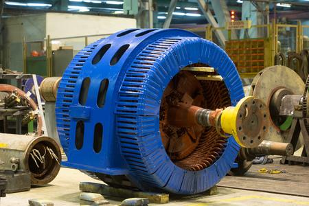 Stator of a big electric motor. repair factory Zdjęcie Seryjne