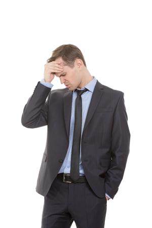 comunicacion no verbal: lenguaje corporal. hombre en traje de negocios aislado fondo blanco.