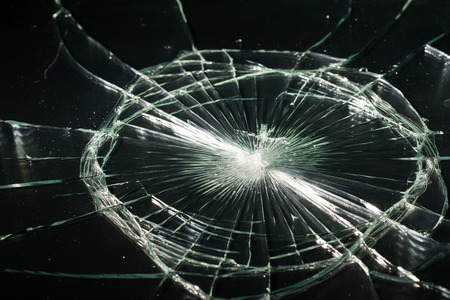 cracked glass: Broken glass texture. Isolated realistic cracked glass effect, concept element.