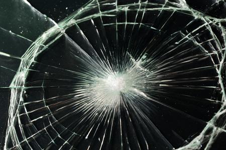 textura de vidrio roto. Aislado efecto de cristal agrietado realista, elemento concepto. Foto de archivo
