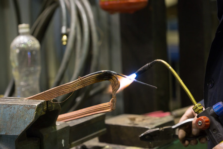 repairing old transformer and welding copper wire