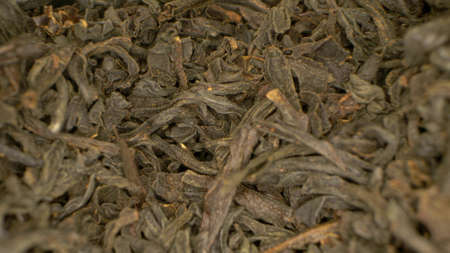 extremely close-up, detailed. green leaf tea. background food