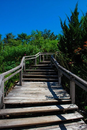 old wooden stairs  photo
