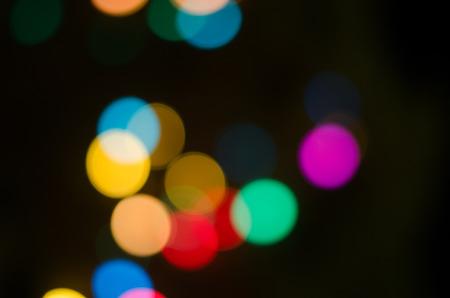 stoplights: Blurry City Lights  Bokeh in the Night