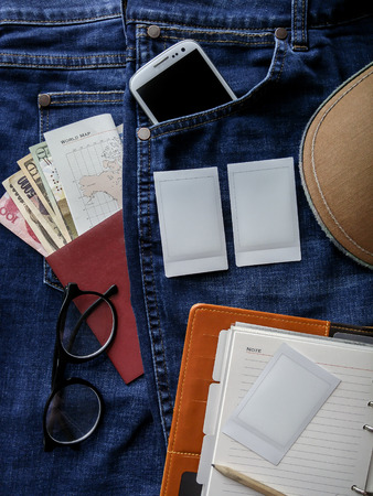 outfits: Flat lay photography of mens casual outfits, Outfits of traveler