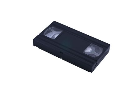 Video cassette on white