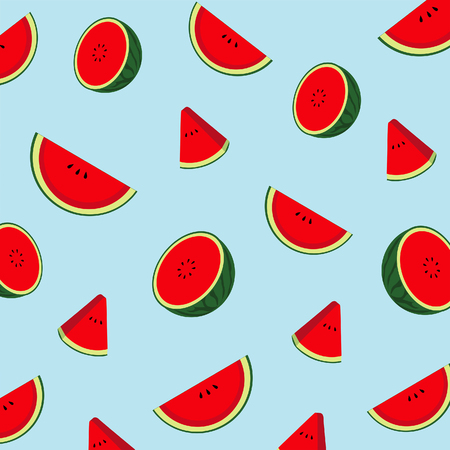 pattern watermelon in summer day. Illustration