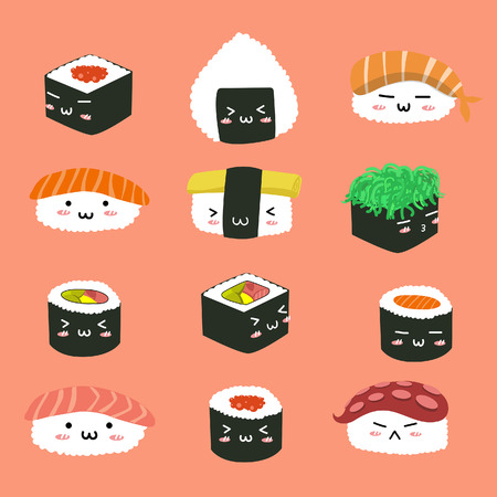 character sushi cute set