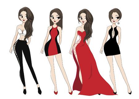 lady and beautiful dress  high fashion.