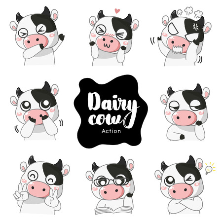 Action and emotions of the Dairy cow.