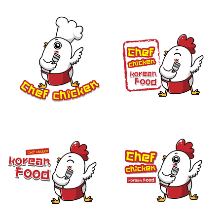 Korean Food Logo is The chicken's mascot.