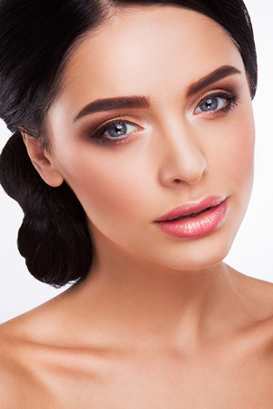 Woman with beautiful bright makeup