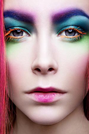 Eye Makeup. Holiday Makeup detail. False Lashes Standard-Bild