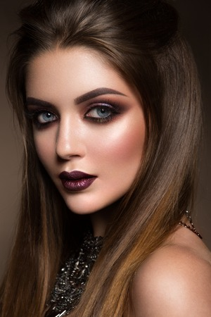 Beauty portrait of model with natural make-up Stock Photo