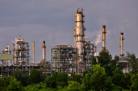 globalwarming: Petrochemical Plant Stock Photo