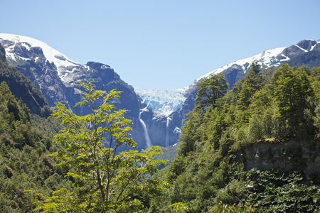 Glacier in Chilean Patagonia Stock Photo