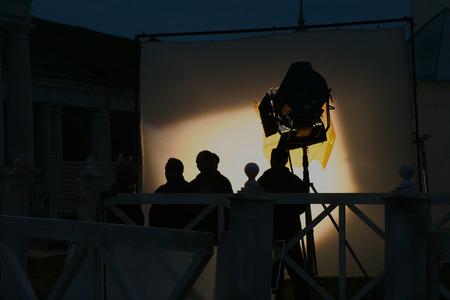 Backstage de tournage d'un clip vidéo Banque d'images - 46651933