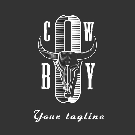 product brand: Cowboy vector concept logo template. Perfect for competition, company, product, brand