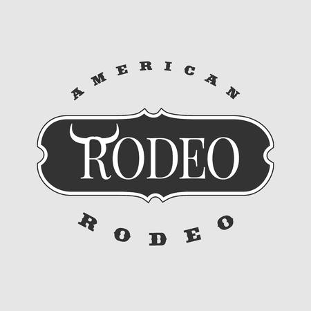 rodeo americano: logotipo de la plantilla de rodeo estadounidense vector. Perfecta para su empresa, servicio, producto Vectores