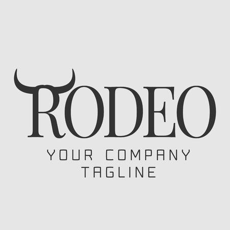rodeo americano: logotipo del rodeo estadounidense vector, oeste salvaje Concepto de la muestra. compa��a de imagen Vaquero, icono del producto Vectores