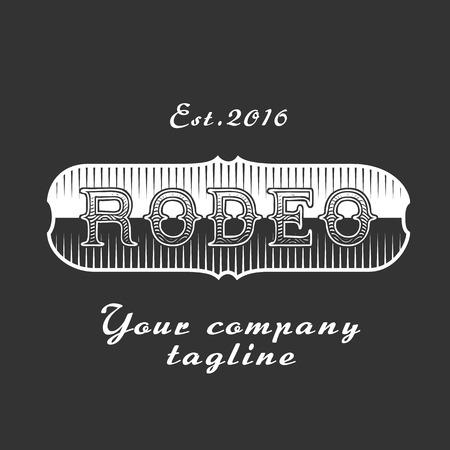 rodeo americano: signo de rodeo estadounidense vector para el evento, empresa, producto. placa de metal del cinturón de vaquero
